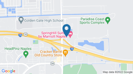 SpringHill Suites by Marriott Naples Map