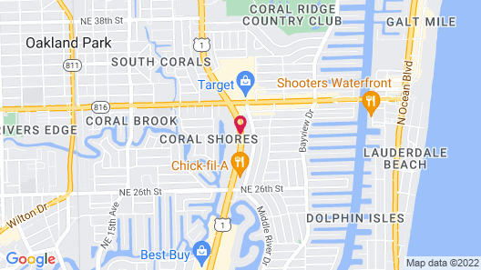 Americas Best Inn and Suites Fort Lauderdale North Map
