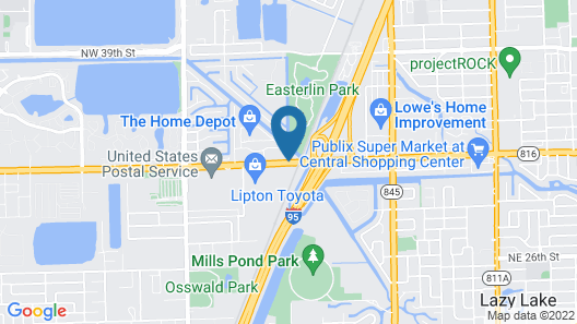 Days Inn by Wyndham Fort Lauderdale-Oakland Park Airport N Map