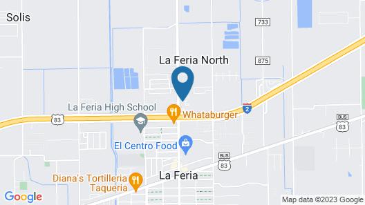 Texas Inn La Feria Map