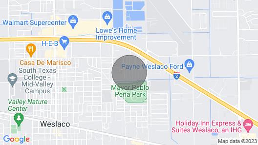 Cozy Weslaco Home W/backyard in Quiet Neighborhood Map