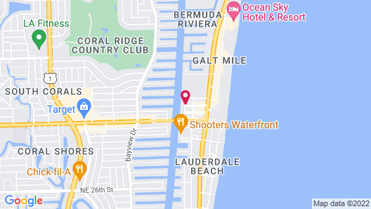 Residence Inn by Marriott Fort Lauderdale Intracoastal/Il Lugano Map