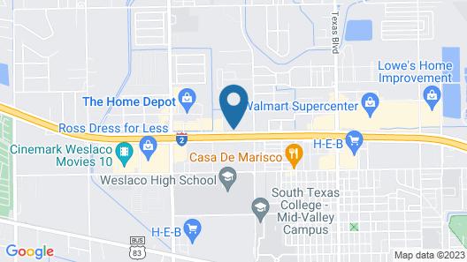 Motel 6 Weslaco, TX Map