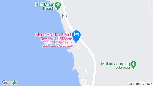 Mena Holiday Beach Resort Half Moon Bay Map