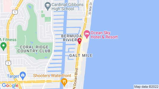 Travelodge by Wyndham Fort Lauderdale Beach Map