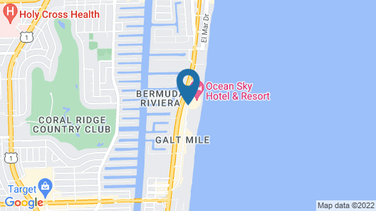 Ocean Manor Beach Hotel Map