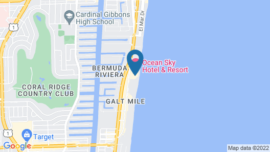 Ocean-View Penthouse Suite #1018 - 2 Br Condo Map