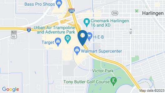 Super 8 by Wyndham Harlingen TX Map