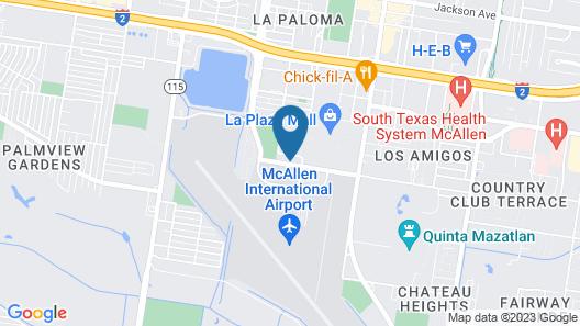 Best Western Plus McAllen Airport Hotel Map