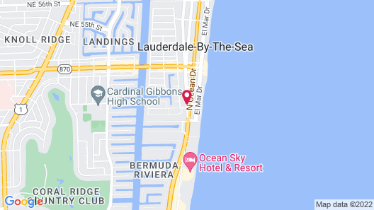 4145 By The Sea Inn & Suites Map
