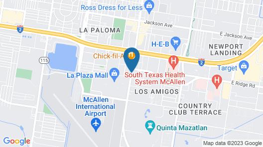 Wyndham Garden McAllen at La Plaza Mall Map