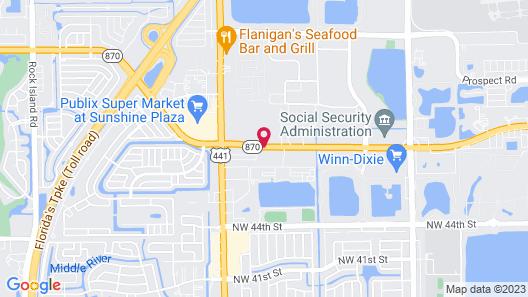 La Quinta Inn by Wyndham Ft. Lauderdale Tamarac East Map