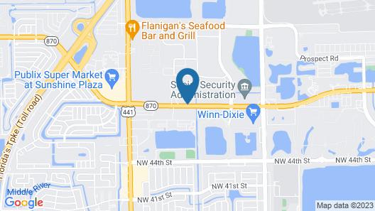 Comfort Inn & Suites Fort Lauderdale West Turnpike Map