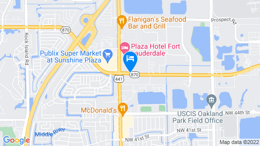 Extended Stay America - Fort Lauderdale - Tamarac Map