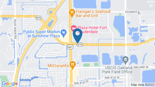 Extended Stay America Suites Fort Lauderdale Tamarac Map