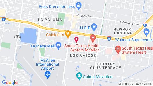 Studio 6 Mcallen, TX Map