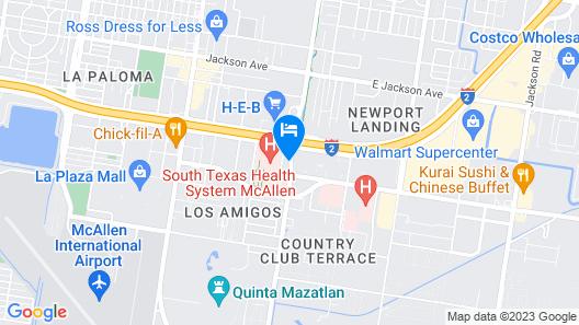 DoubleTree Suites by Hilton Hotel McAllen Map