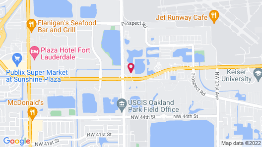 HomeTowne Studios by Red Roof Fort Lauderdale Map