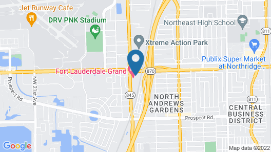 Fort Lauderdale Grand Hotel Map