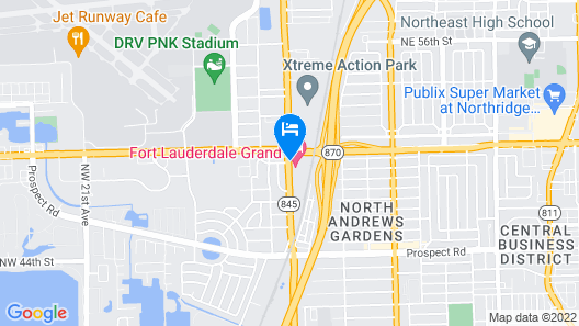 Econo Lodge Inn & Suites Fort Lauderdale North Map