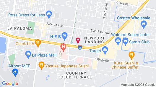 Hampton Inn & Suites McAllen, TX Map