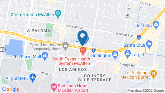 Residence Inn by Marriott McAllen Map