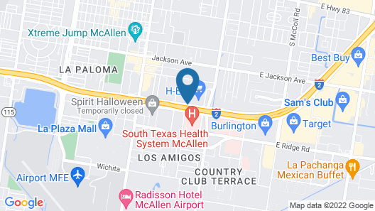Drury Inn & Suites McAllen Map