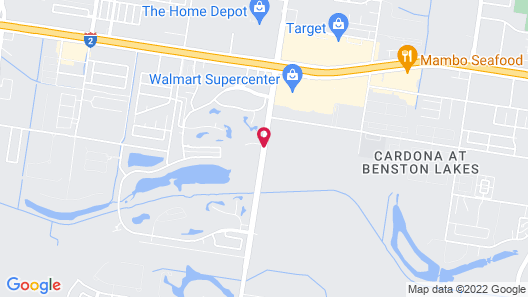 Holiday Inn Express Hotel & Suites Mission-McAllen Area Map