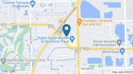 Hampton Inn Commercial Boulevard Fort Lauderdale Map