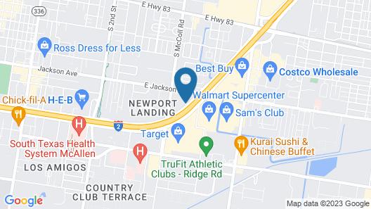 Motel 6 McAllen, TX - East Map