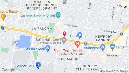 Super 8 by Wyndham McAllen/Downtown/La Plaza Mall Map