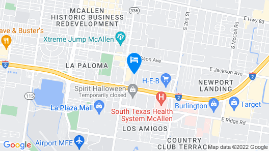 OYO Hotel McAllen Airport South Map