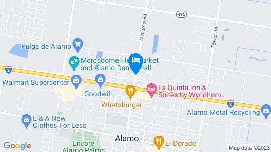 Texas Inn Alamo Map