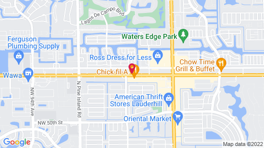 InTown Suites Extended Stay Fort Lauderdale Map