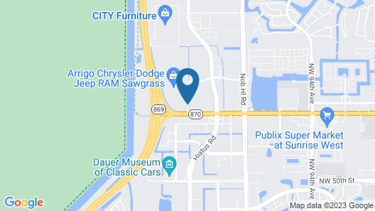 Hampton Inn & Suites Ft. Lauderdale West-Sawgrass/Tamarac Map