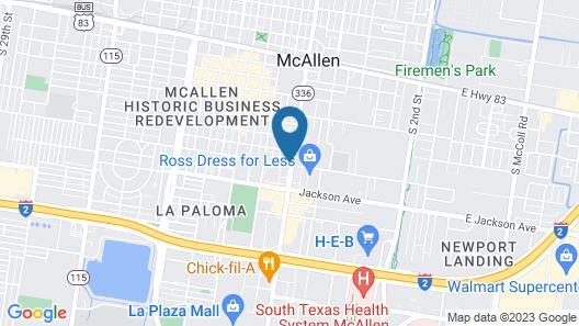 La Copa Inn McAllen Map