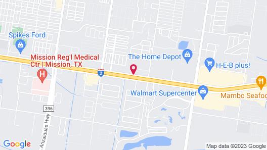 Motel 6 Mission, TX Map