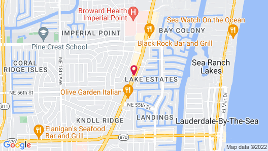 La Quinta Inn by Wyndham Ft. Lauderdale Northeast Map
