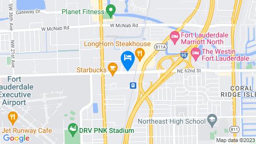 Sheraton Suites Fort Lauderdale at Cypress Creek Map