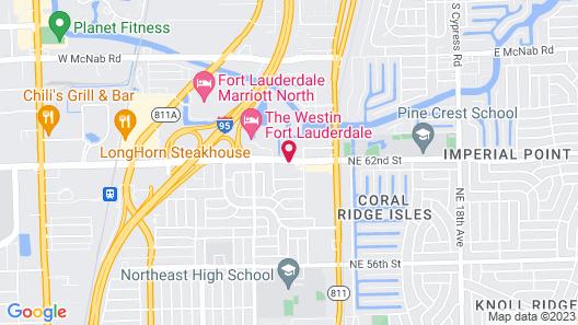 Hampton Inn Fort Lauderdale-Cypress Creek Map
