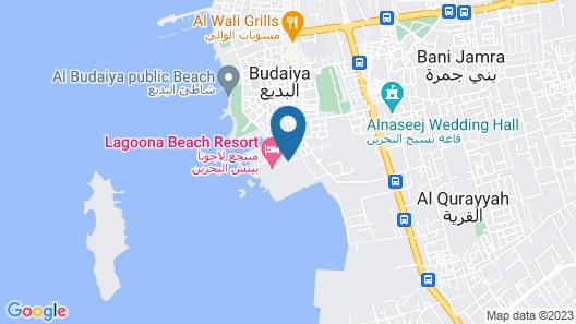Lagoona Beach Luxury Resort and Spa Map