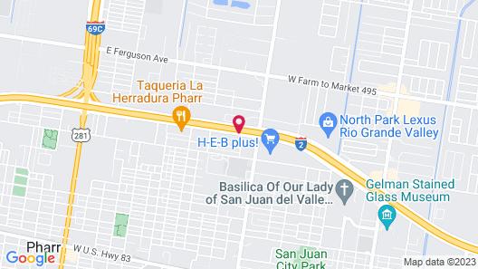 Texas Inn & Suites Pharr/San Juan Map