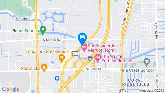 Fort Lauderdale Marriott North Map