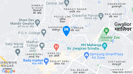Taj Usha Kiran Palace Hotel Map