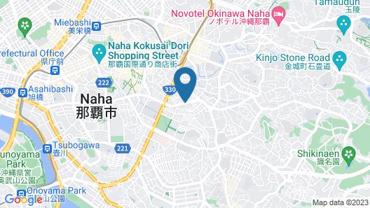 White Terrace Tsuboya Guesthouse in Okinawa Map