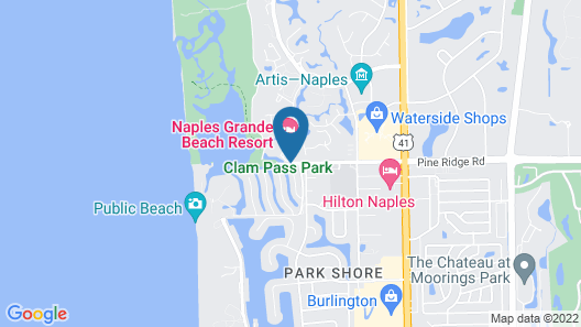 Naples Grande Beach Resort Map