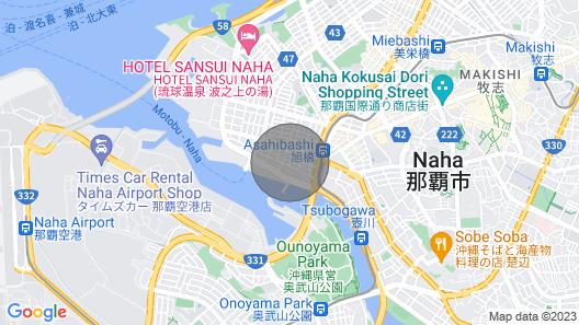 Walking Distance to the International Street Near / Naha Okinawa Map