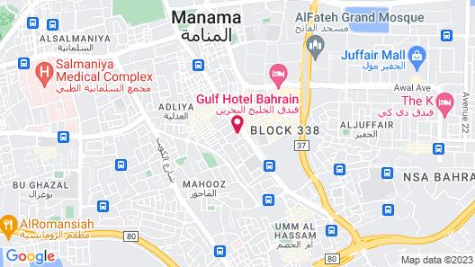 Bahrain Carlton Hotel Map