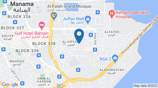 The Juffair Grand Hotel Map