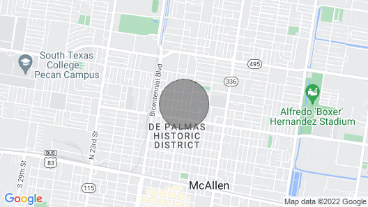 King Size Bed In The Heart of Downtown McAllen 's Historic District Map